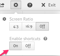 Prezi - Enable shortcuts
