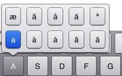 Accenten invoeren op iOS - iPhone of iPad